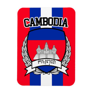 Cambodia Rectangular Photo Magnet