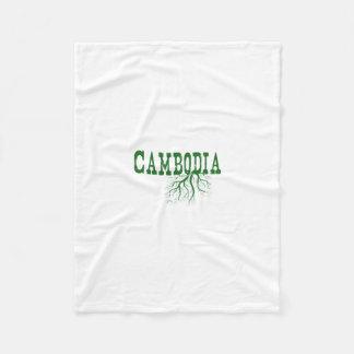 Cambodia Roots Fleece Blanket