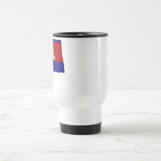 Cambodia Waving Flag Travel Mug