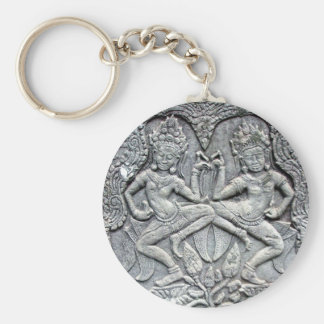 Cambodian dancers stone carving key ring