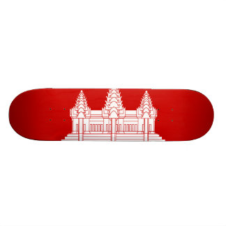 Cambodian Flag Custom Skateboard