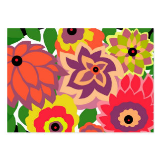 CAMBRIA, ART DECO FLORALS: TROPICANA LARGE BUSINESS CARDS (Pack OF 100)