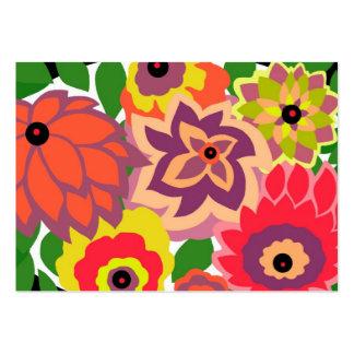 CAMBRIA, ART DECO FLORALS: TROPICANA BUSINESS CARDS