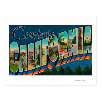 Cambria, California - Large Letter Scenes Postcard