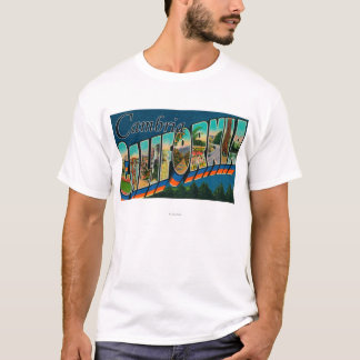 Cambria, California - Large Letter Scenes T-Shirt