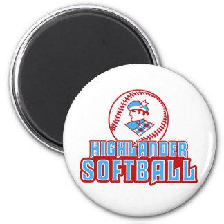 Cambria Heights Highlander Softball Design Fridge Magnet