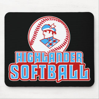 Cambria Heights Highlander Softball Design Mouse Pad