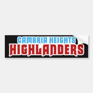 Cambria Heights Text Logo Design Bumper Sticker