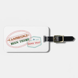 Cambridge Been there done that Luggage Tag