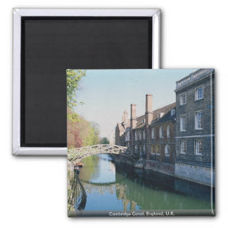 Cambridge Canal, England, U.K. Square Magnet