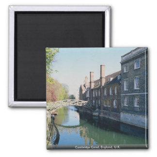 Cambridge Canal, England, U.K. Square Magnet