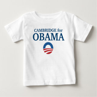 CAMBRIDGE for Obama custom your city personalized Baby T-Shirt