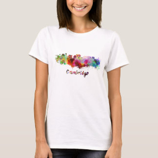 Cambridge MA skyline in watercolor T-Shirt
