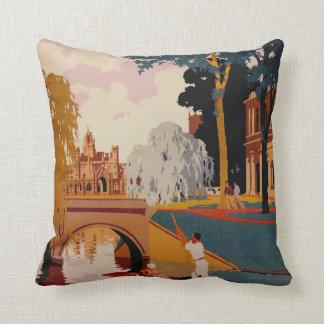 Cambridge retro travel pillow throw cushion
