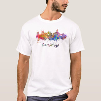Cambridge skyline in watercolor T-Shirt