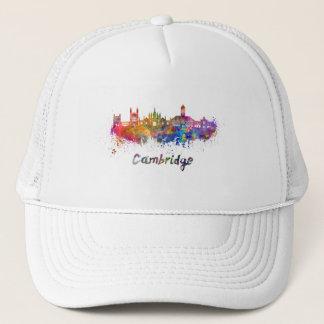 Cambridge skyline in watercolor trucker hat