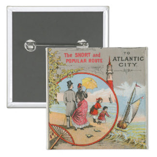 Camden and Atlantic Railroad Pinback Buttons