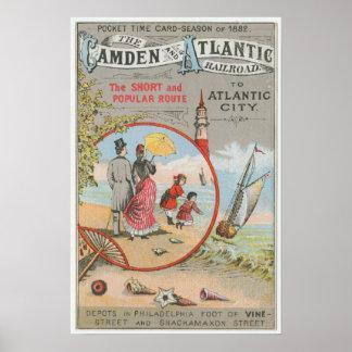 Camden and Atlantic Railroad Poster