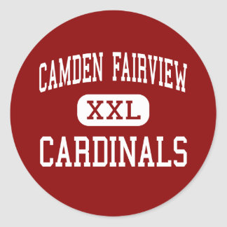Camden Fairview - Cardinals - High - Camden Classic Round Sticker
