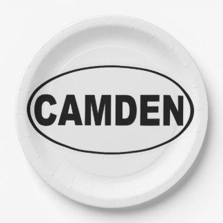 Camden Maine Paper Plate