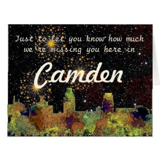 Camden New Jersey Skyline SG Safari Buff Card