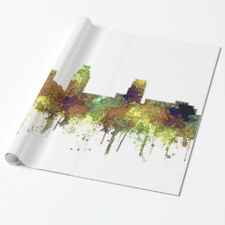 Camden New Jersey Skyline SG Safari Buff Wrapping Paper