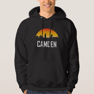 Camden New Jersey Sunset Skyline Hoodie