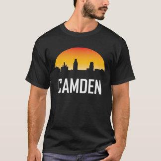 Camden New Jersey Sunset Skyline T-Shirt