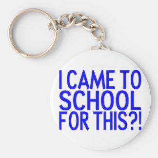 Came To School Basic Round Button Key Ring