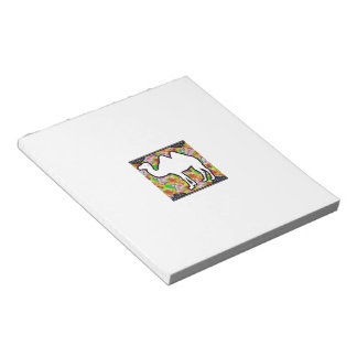 Camel and Flowers Notepad