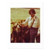 Camel And Lisa, Egypt, 1975 Postcard