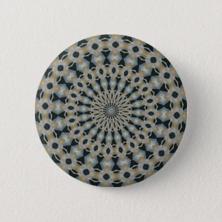 Camel and Teal Kaleidoscope 6 Cm Round Badge