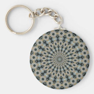 Camel and Teal Kaleidoscope Key Ring