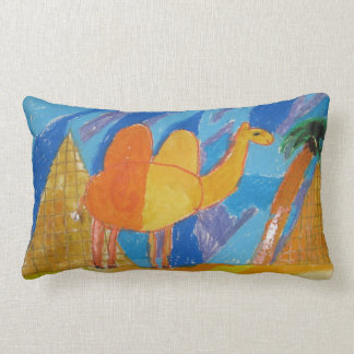 Camel Art by Kids Lumbar Cushion