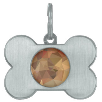 Camel Brown Abstract Low Polygon Background Pet Name Tags