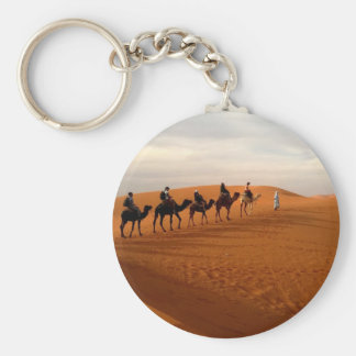 Camel caravan desert beautiful scenery key ring