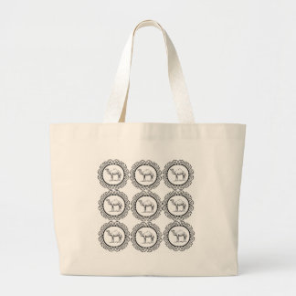 Camel Cluster Large Tote Bag