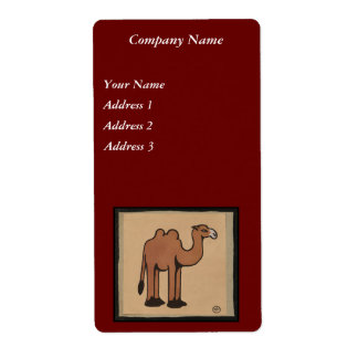 Camel - Colorful Antiquarian Book Illustration Shipping Label