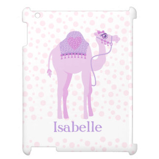 Camel cute whimsy girls named purple pink cover iPad case