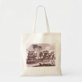 Camel Driver Vintage Print Tote Bag