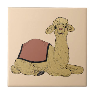 Camel dromedary camel dromedary small square tile