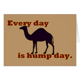 """Camel """"Every Day is Hump Day"""" Greeting Card"""