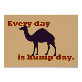 "Camel ""Every Day is Hump Day"" Invitation"
