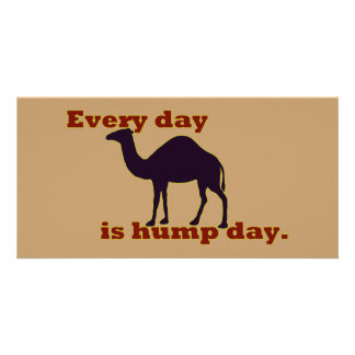 """Camel """"Every Day is Hump Day"""" Personalised Photo Card"""