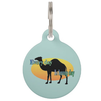 Camel - Every Day is Hump Day Pet Nametags