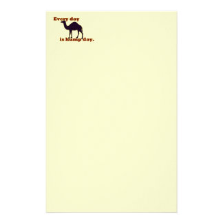 "Camel ""Every Day is Hump Day"" Custom Stationery"