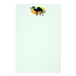 Camel - Every day is hump day Custom Stationery