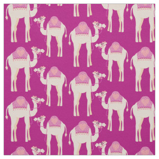 Camel graphic animal heart hump pink fabric