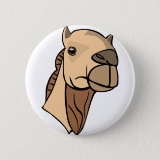 Camel Head 6 Cm Round Badge