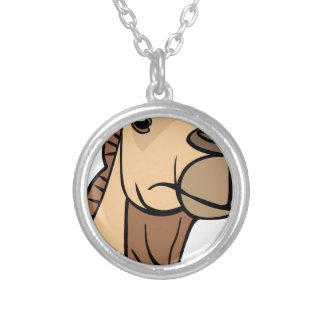 Camel Head Silver Plated Necklace
